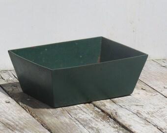 Antique Green Cast Iron Pan