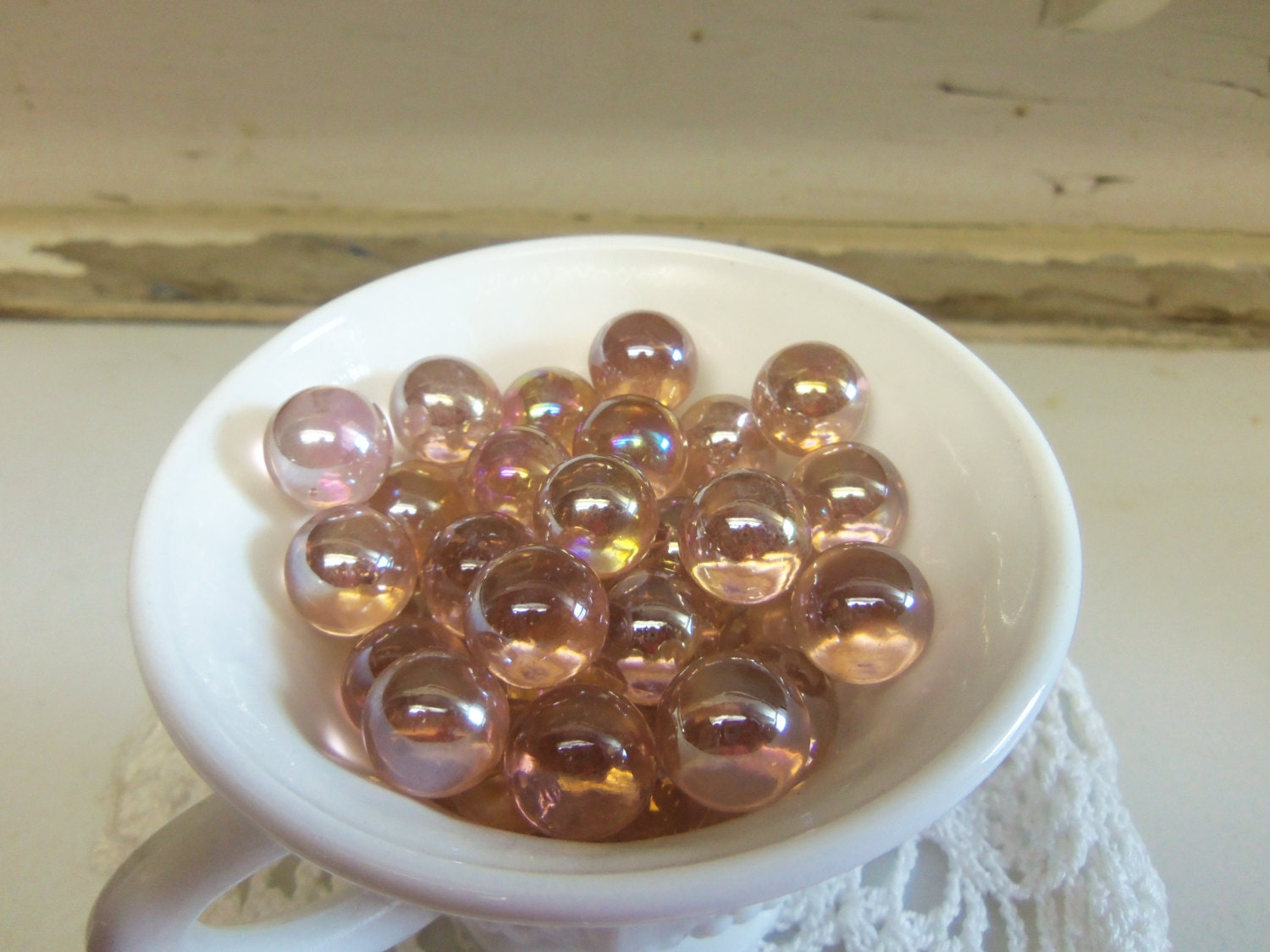 Bulk Colored Marbles : Pounds bulk supply pale pink luster glass marbles for