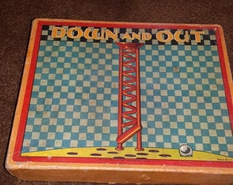 1930s Milton Bradley Game - Down and Out