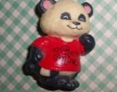 "Shirt Tales Hallmark Pammy Panda Pin ""Be Mine"""