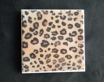 Cheetah print coaster