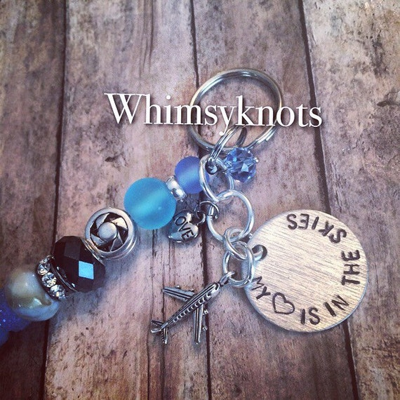 My heart is in the skies- keychain