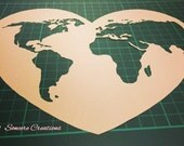 COMMERCIAL LICENCE - Cut it yourself papercut template 'World Love' - Valentine