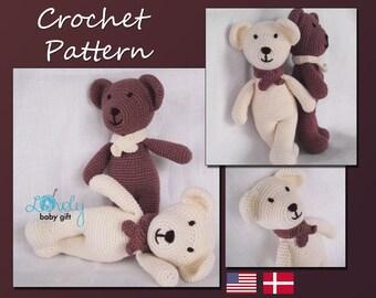Amigurumi  Pattern Crochet, Bear, Teddy Bear, Animal Crochet Pattern, CP-106