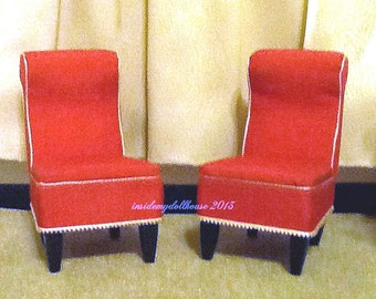 Set of Two Ultra Modern Chairs for Barbie Blythe or Monster High Dolls