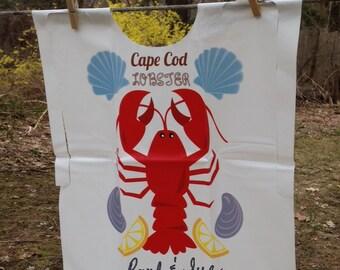 Personalized Cape Cod Lobster Bibs clambakes, lobster bake, rehearsal dinner, weddings, showers, beach parties Heavy duty vinyl bib