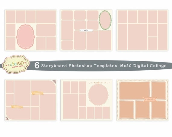 Photo Collage Templates - Photoshop Collage Templates - Storyboard