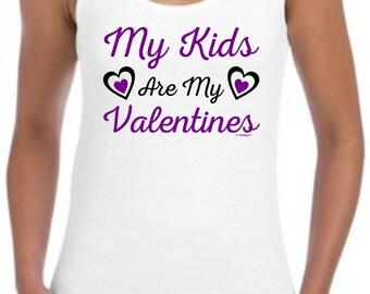 My Kids Are My Valentines Junior's Tank Top 64200L - FA-785