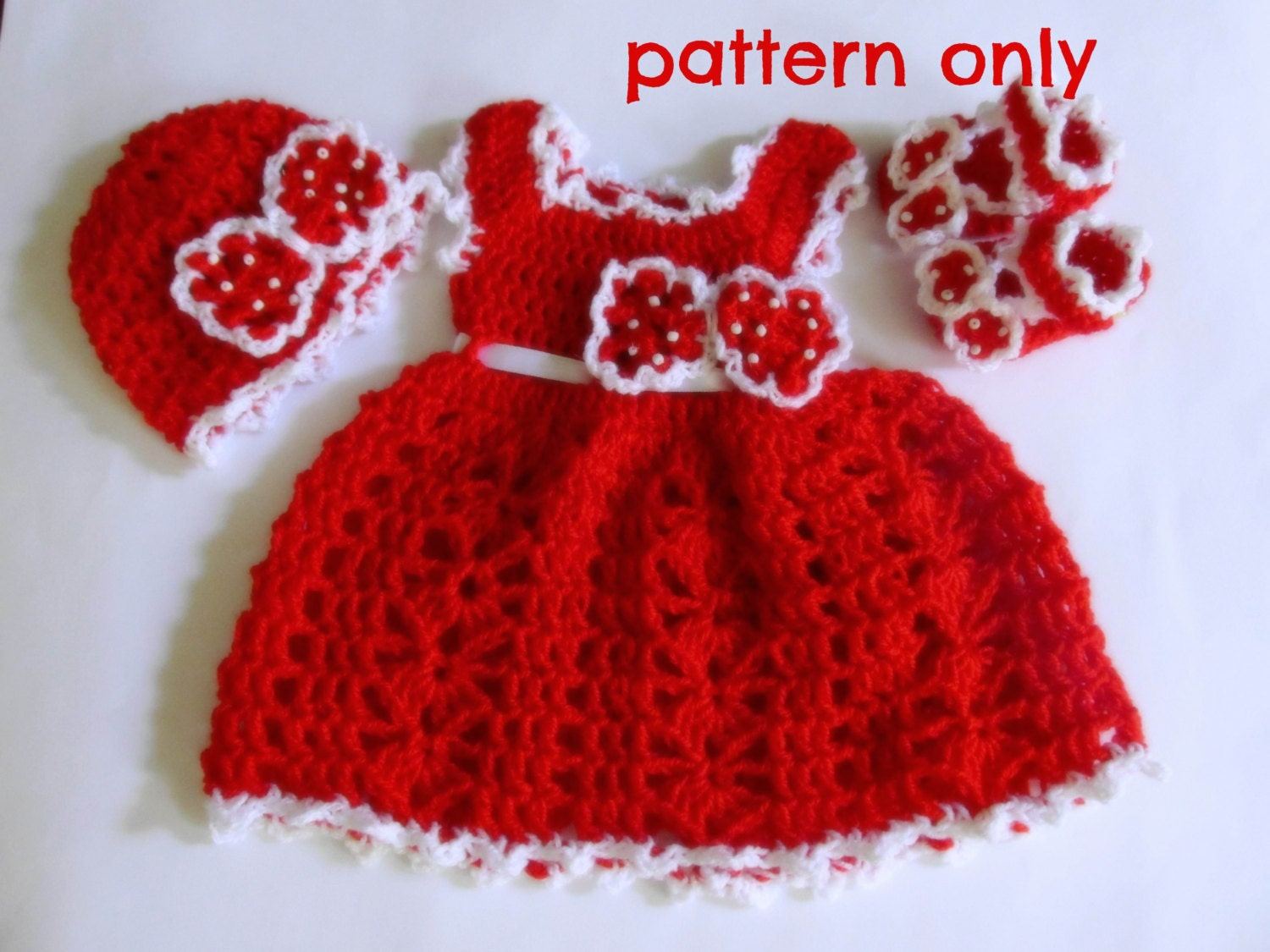 Crochet Baby Outfit Pattern : Baby Dress Pattern Baby Crochet Pattern Baby Girl Dress