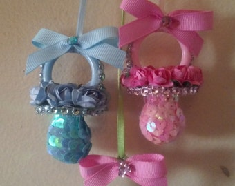 Baby Shower Necklace Corsage Pacifier - 12 (One dozen)