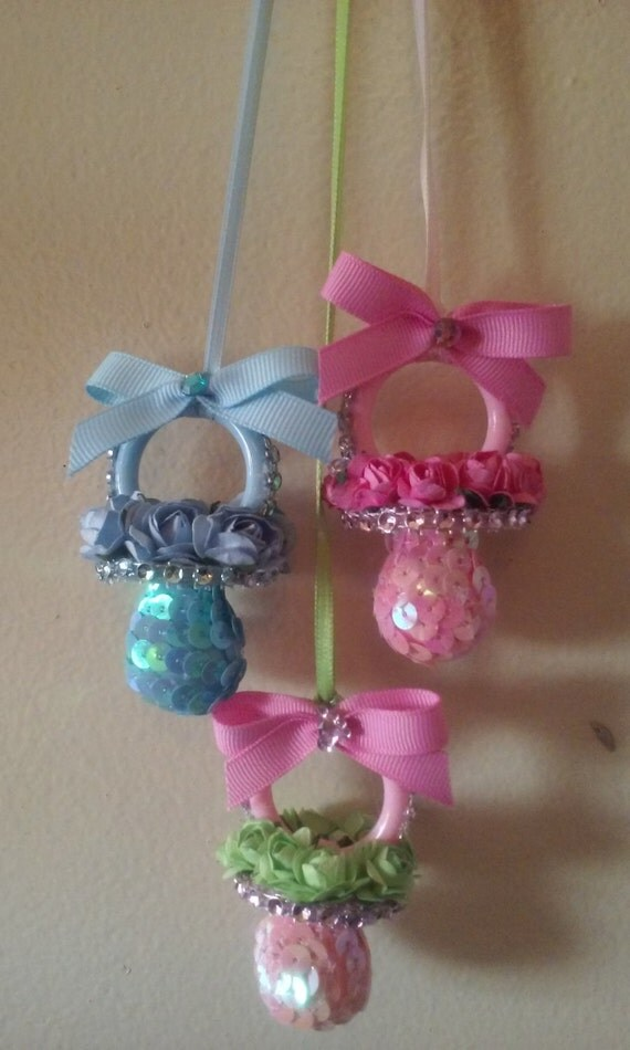 baby shower necklace corsage pacifier 12 one dozen