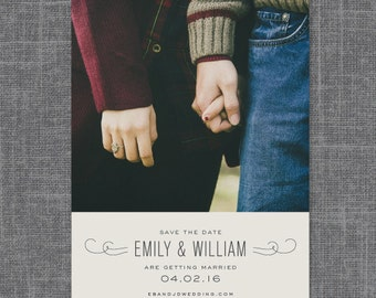 Estate Modern Save the Date | Print-it-Yourself