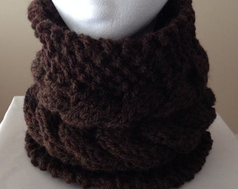 Knitted Cable Neckwarmer/Cowl