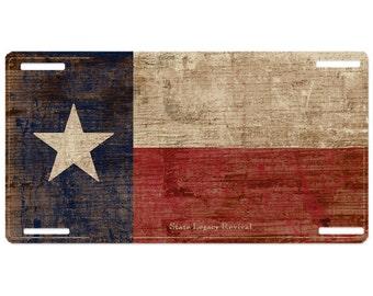 Texas Vintage License Plate