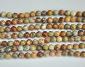 natural crazy agate beads, round agate stone beads, multi color semi precious beads, 10mm strand