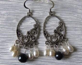 Freshwater chandelier earrings 0659EA
