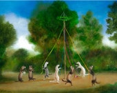 """Art Print of an Original Animal Painting: """"The Magnificent Seven"""""""