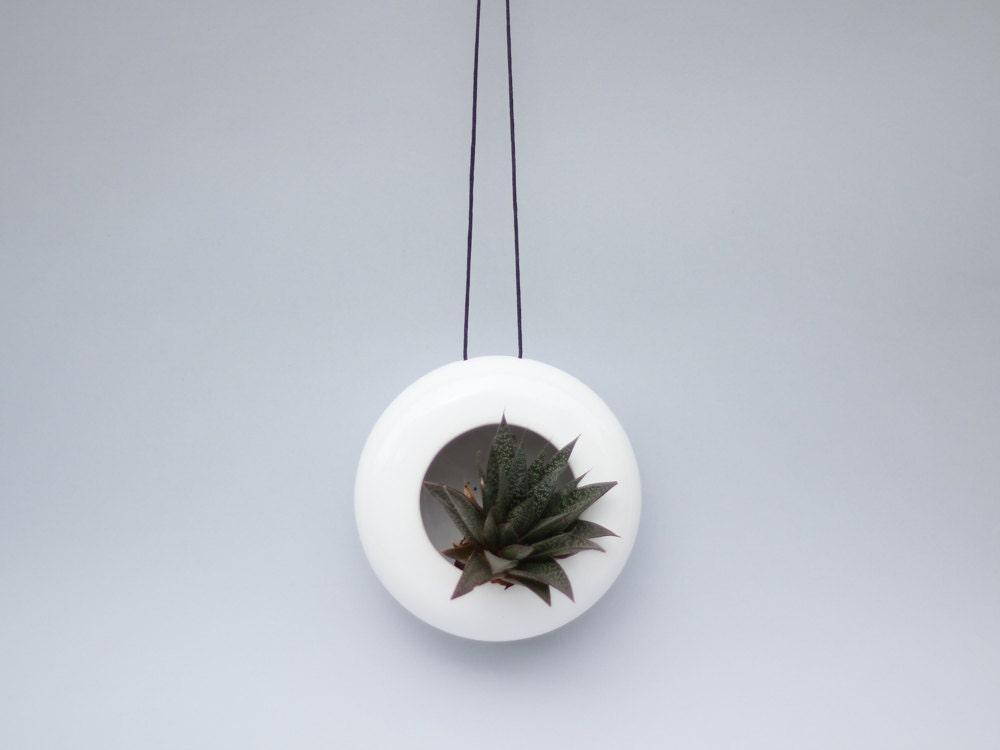 Modern designed hanging ceramic planter/ flower by OlisCupboard