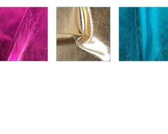 Black, purple, blue, red or gold metallic spandex