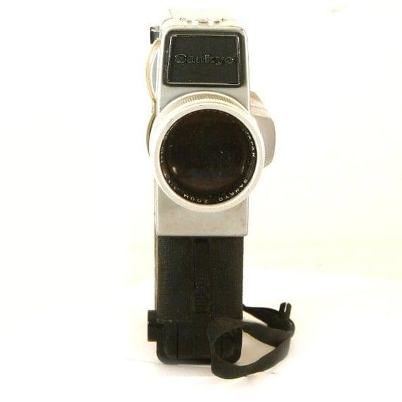 vintage sankyo super cm super 8 movie camera and lens for 8mm. Black Bedroom Furniture Sets. Home Design Ideas