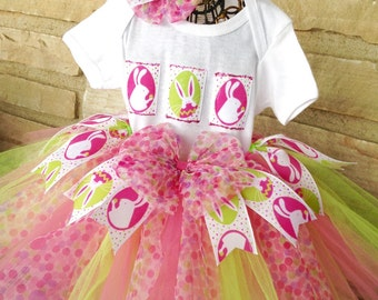 Easter Bunny Tutu  Ready2Ship  baby's first Easter, Easter tutu, photo shoot, pageant wear, birthday, special occassion,baby shower gift