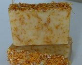 Chamomile Calendula Soap - Vegan - Unscented - Palm Free - Handmade Cold Process Soap