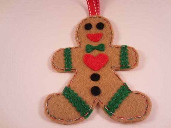 Items similar to Gingerbread Men Ornament Christmas Tree ...