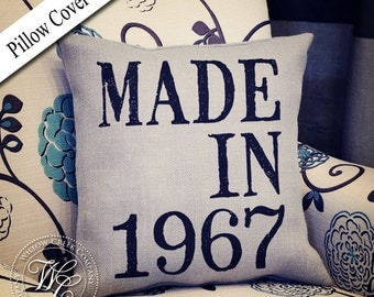 Personalized Birthday Gift | Pillow Cover | Birthday Pillow | Burlap Pillow | 30th birthday | 40th birthday| 50th birthday | 60th birthday