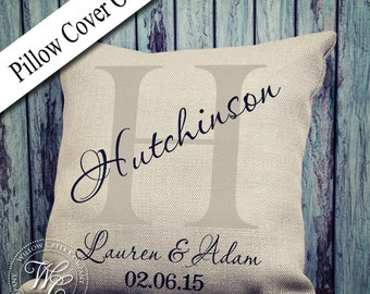 Vintage Pillow Cover, Shabby Chic Decor, Modern Accent Pillow, Willow Creek Company, Personalized Pillow Cover, Family Pillow