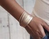Sliced Wrap Bracelet In Berry Shimmer, Gold Wrap Bracelet, Boho Chic,  Affordable Bracelet, Wrap Bracelet,  Suede Bracelet, Soft Leather