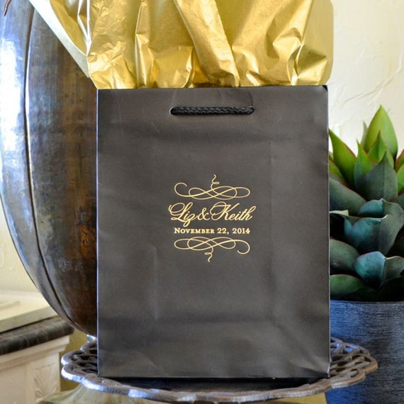 Personalized Wedding Gift Bags Cheap : Custom Wedding Gift Bags - Set of 35, Personalized Wedding Welcome ...