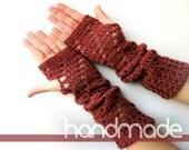 Hand Crocheted Fingerless, crochet arm warmer,wrist warmer ,fingerless glove
