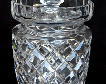 Canterbury Style Ceska of Czechoslovakia Crystal Preserves jar