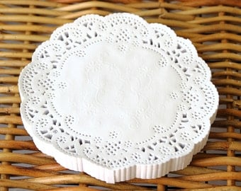 White Paper Doilies, 250 White Doilies, 4 Inch Doily, Baby Shower, Wedding Doily, Packaging Supply, Paper Lace Doily, Rustic Wedding Decor
