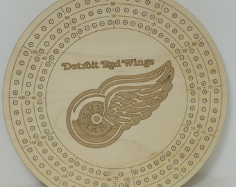 Detroit Redwings Cribbage Board