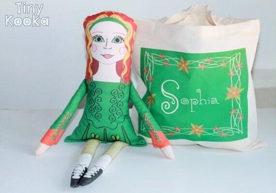 Handmade Baby Gifts Ireland : Items similar to irish rag doll gift for girl