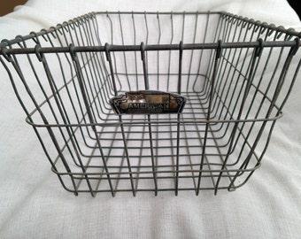 Industrial Wire Metal Basket 20L X 12W X 7.5D