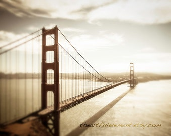 Golden Gate Bridge art, Large Canvas art, San Francisco print, Travel Photography, San Francisco skyline, Bridge photo // Golden Gate Bridge