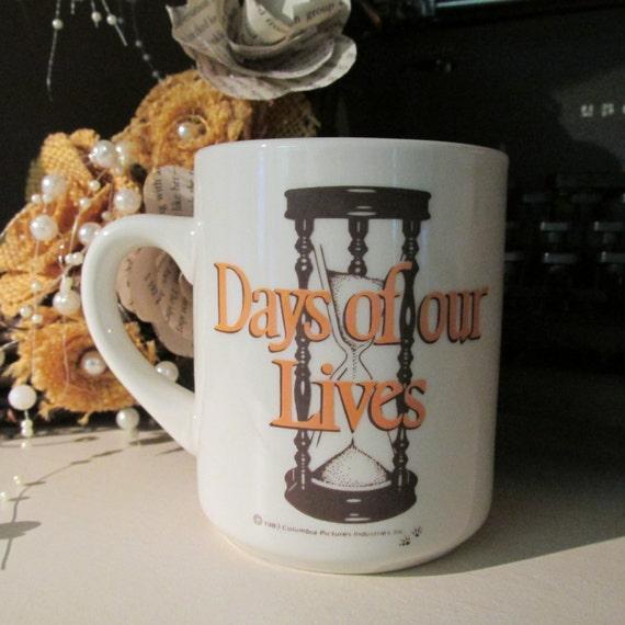 Days Of Our Lives Mug Vintage Soap Opera 1983 Columbia