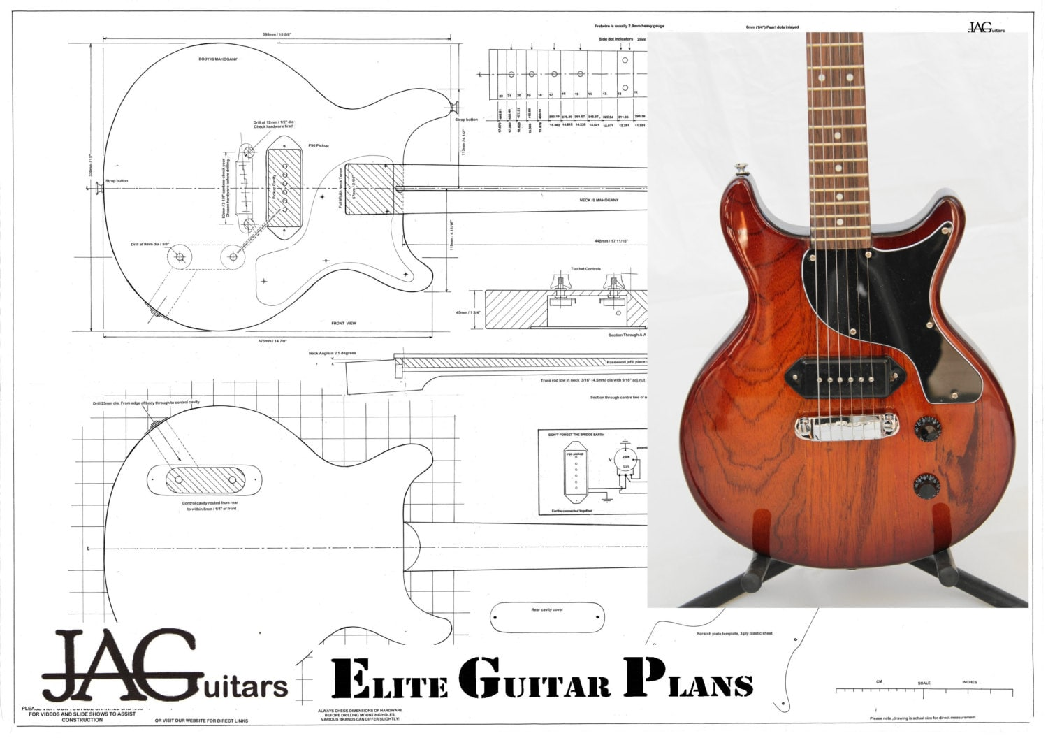 Plan to build this 50 s    les       Paul       junior    by JohnAnthonyGuitars