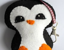 Felt Penguin Bag Tag PDF Pattern