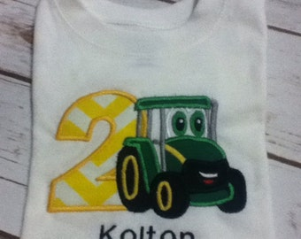 shirt, birthday shirt, tractor shirt, tractor, 1st birthday