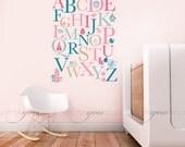 Alphabet Nursery Wall Decal - Playroom Wall Decal - Nursery Wall Decal - Play Room Wall Decal - Animals Wall Decal - Custom Decal 01-0001