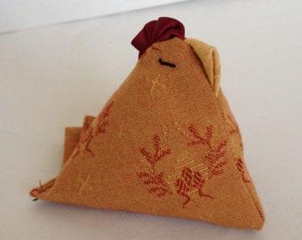 Funky little red-head chicken ornament - Gift for chicken lover - Chicken juggling balls - Stuffed chicken ornament.