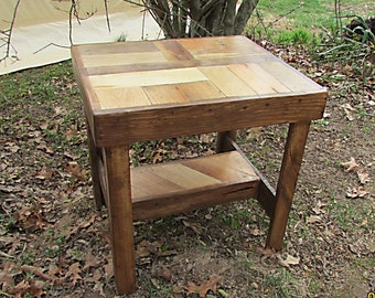Rustic End Table, Rustic Table, Living Room Furniture, Rustic Table, Log Cabin Furniture, Bedside Table, Rustic Furniture, lath table