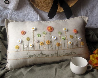 Springtime in the Country Pillow (Cottage Style)