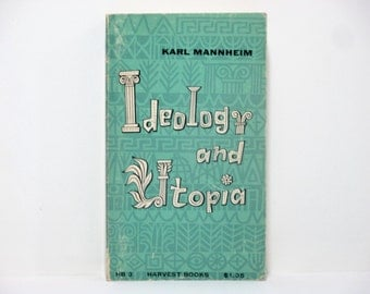 James (Jim) Flora Cover Design ~ Ideology and Utopia by Karl Mannheim 1950's Vintage Book