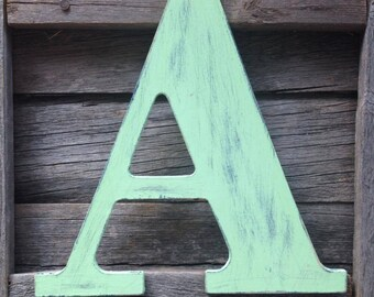 9.5 inch - Wooden Letters, Custom Nursery Letters, Children's Room, Hanging Letters