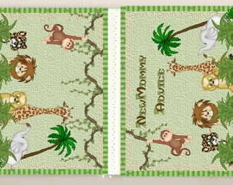 Various Jungle Themes Baby Shower Advice/Activity Books Giraffe Monkey Lion Elephant