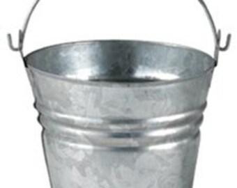 Galvanized bucket - logo included